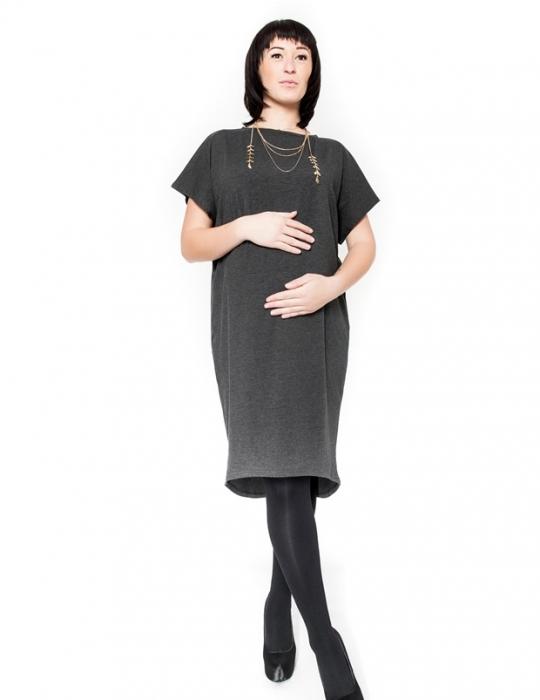 Těhotenské šaty tunika BELLA - grafit - Mamitati - od mámy a od táty ... d7bc000cb2
