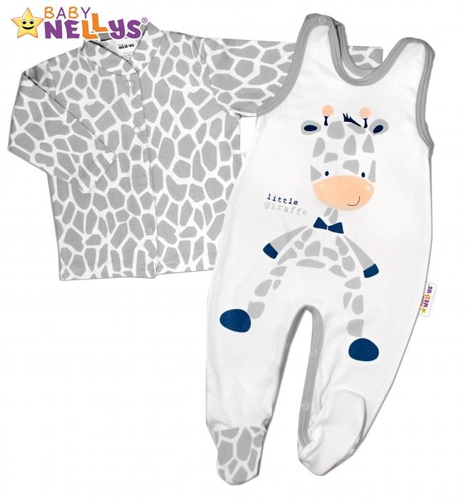 fe4e7350a 2 dílná sada - Bavlněné dupačky s košilkou ŽIRAFA Baby Nellys ®. Obrázek