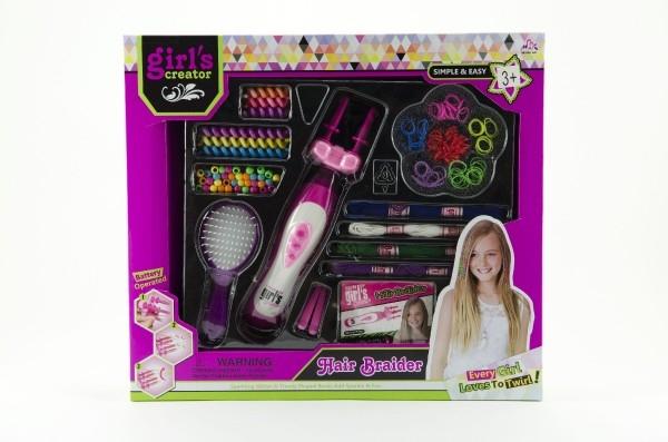 379ab8fa275 Sada zaplétání do vlasů s doplňky plast na baterie v krabici 40 ...