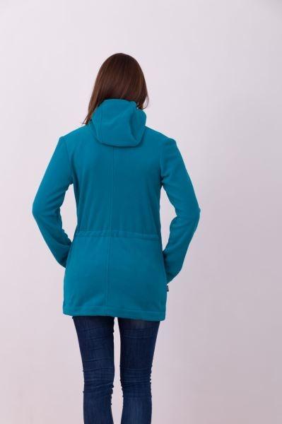 21288297b01 Nosící fleece mikina s kapucí - pouze přední nošení - petrolejová ...