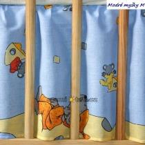 Krásný volánek pod matraci - Myška modrá
