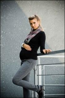 Těhotenské kalhoty MANCHESTER  - Šedý popílek