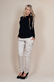 Těhotenské kalhoty ALADINKY  - Béžové