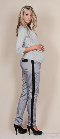 Těhotenské kalhoty Karolina - šedý popílek