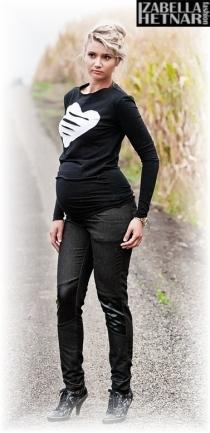 Těhotenské kalhoty/jeans NANA  - černý jeans