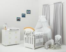10-ti dílný set s výšivkou  Baby Míša Nellys  šedý