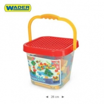 Kyblík s kostkami Mini Blocks Wader - 134 dílků -…