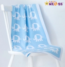 Dečka z úpletu Baby Nellys ® SLON - sv. modrá