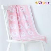 Dečka z úpletu Baby Nellys ® SLON - sv.. růžová