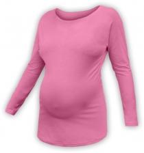 Těhotenské tričko dlouhý rukáv LENKA - růžové