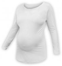 Těhotenské tričko dlouhý rukáv LENKA - smetanové