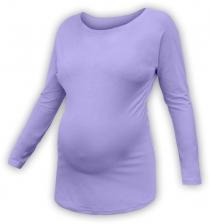 Těhotenské tričko dlouhý rukáv LENKA - šeříková