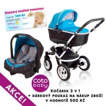 Kočárek LATINA Coto Baby 3v1 + dárkový kupon…