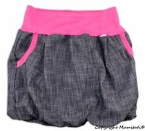 Balónová sukně NELLY  - jeans denim black/ růžové…