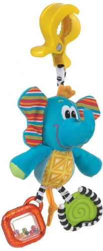 Závěsný slon s klipem PLAYGRO