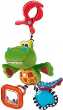 Závěsný krokodýl s klipem PLAYGRO
