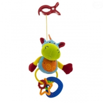 Plyšová hračka s klipsem a chrastítkem  - Hippo