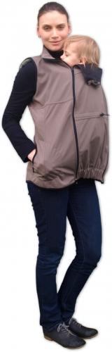 Vesta pro nosící, těhotné - softshellová - béžová