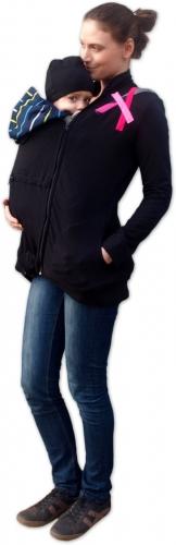 Mikina pro nosící, těhotné - s aplikací růžových…