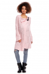 Dlouhý svetřík HANNE - světle růžový