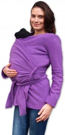 Zavinovací kabátek pro nosící, těhotné - fleece -…