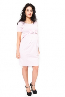 Těhotenské šaty Vivian - světle růžová