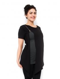 Těhotenská a kojící tunika Aida - černá