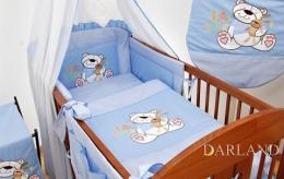 Mantinel s povlečením lux Darland - KOLEKCE Míša H8 - modrý