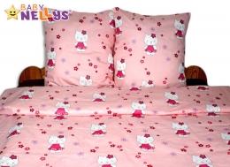 Bavlněné povlečení 140x200 - Kočička v růžové