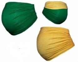 Těhotenský pás DUO - zelená se žlutou