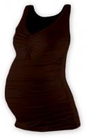 Těhotenský topík JOLANA - čokohnědá