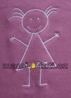 DOPRODEJ - Těhotenský pás s výšivkou - holka - zelená