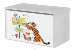 Box na hračky, truhla Disney - Medvídek PÚ a tygřík