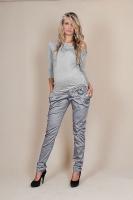 Těhotenské kalhoty s mašlí  - Šedý popílek