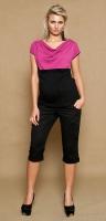 Těhotenské kalhoty ANNA  3/4  - černé