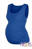 Top, tílko DANA  nejen pro těhotné  - modrá