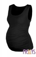 Top, tílko DANA  nejen pro těhotné  - černá