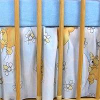 VÝPRODEJ Krásný volánek pod matraci - Včelka modrá