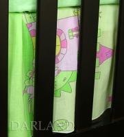 VÝPRODEJ Krásný volánek pod matraci - Zámek zelený