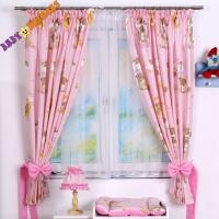 Závěsy Baby Dreams - Medvídek na žebříku v růžovém/růžový
