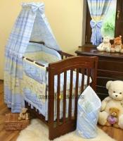 Lustr do dětského pokojíčku - Kačenky pruh modrý