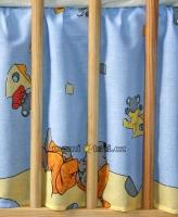 Krásný volánek pod matraci - Myšky modré