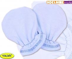 Rukavičky bavlna Terjan - modré, vel. 2
