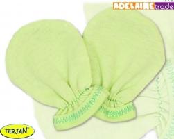 Rukavičky bavlna Terjan - zelené, vel. 2