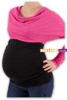 Těhotenská tunika VODA DUO - růžovo-černý