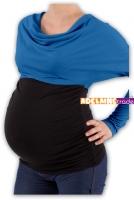 Těhotenská tunika VODA DUO - tm.modrý-černý