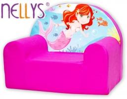 Dětské křesílko/pohovečka Nellys ® - Malá mořská víla