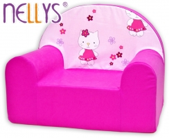 Dětské křesílko/pohovečka Nellys ® - Kitty kočička