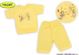 Dětské pyžámko TERJAN - krémové/žluté