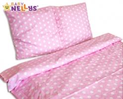 Bavlněné povlečení 140x200 - Puntíky v růžové